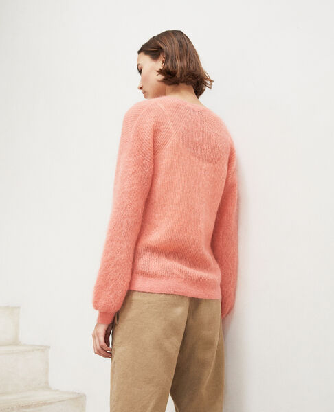 Comptoir des Cotonniers - Jersey de cuello de pico con mohair Salmon pink - 3