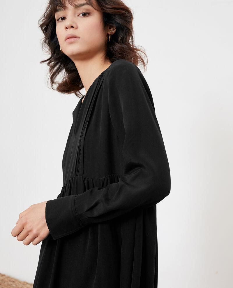 Vestido de seda Noir Fomme