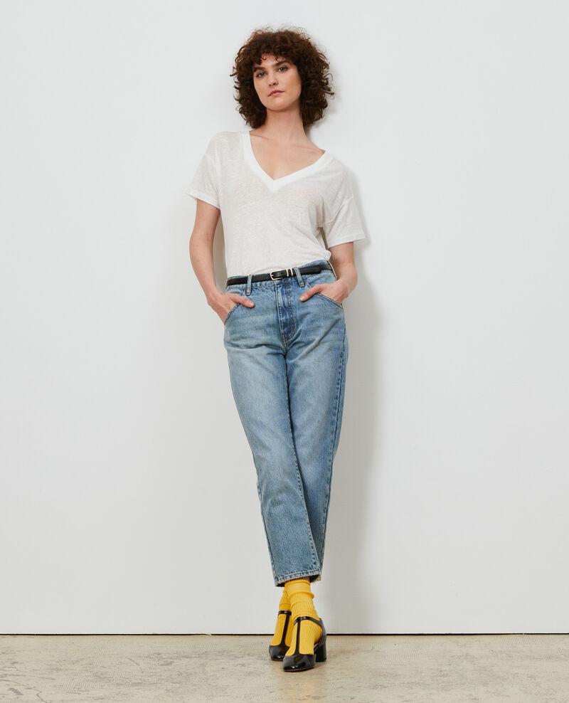 SLOUCHY - Jeans desteñidos 7/8 Vintage wash Neronage