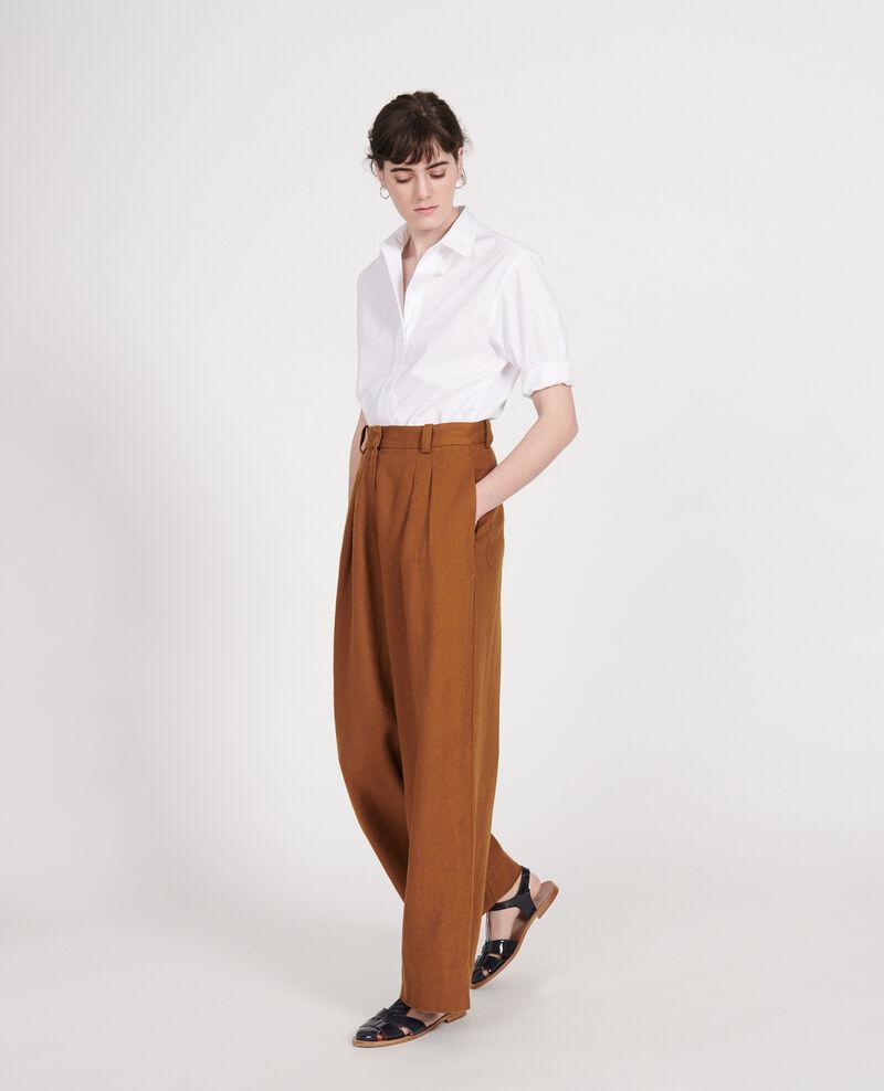 Pantalón de lino Monks robe Lafare