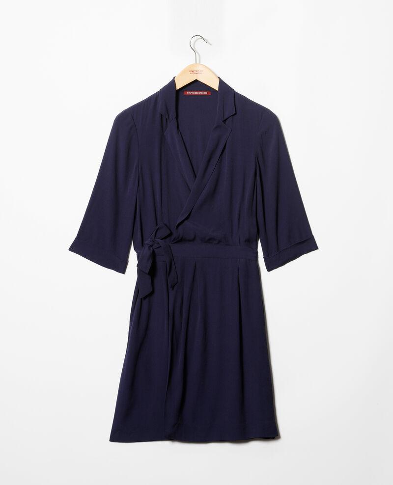 Vestido cruzado Peacoat Gideen