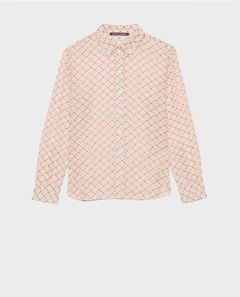 Camisa estampada de algodón Daisy seashellpink Nandes