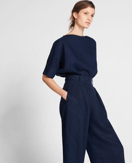 Blusa de lino MARITIME BLUE