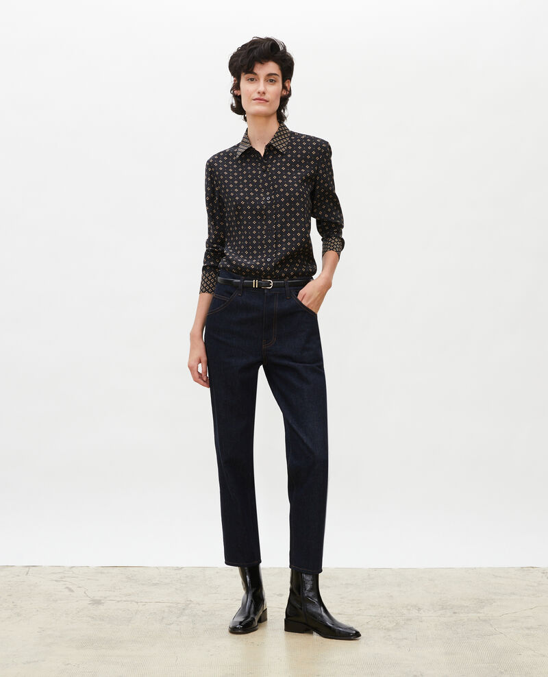 TOMBOY - Jeans amplios talle medio alto y 5 bolsillos Denim rinse Merona