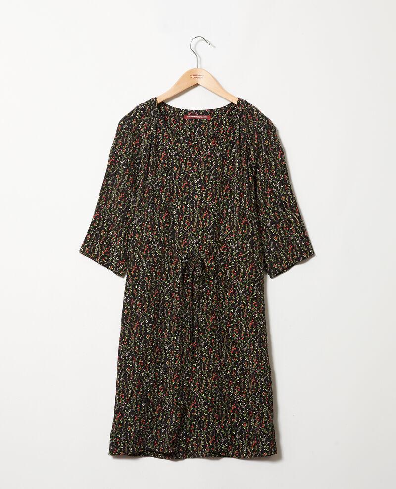 Vestido estampado Daphne noir Jafete