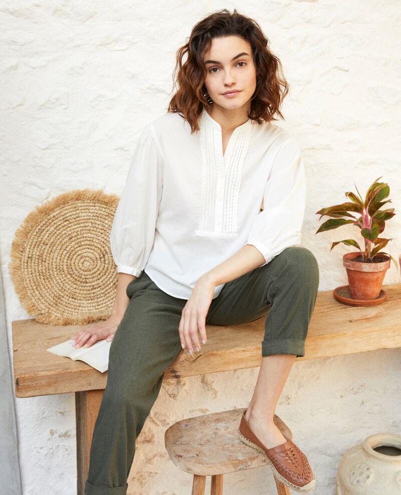 Blusa con pechera Blanc Itape