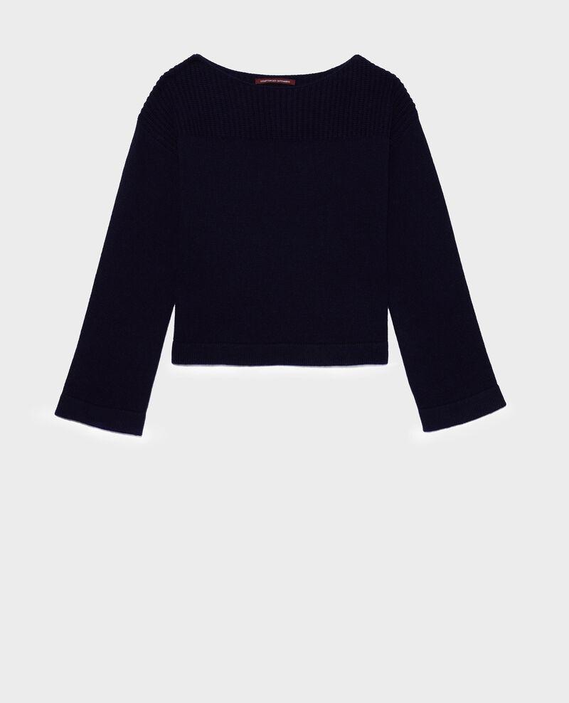 Jersey de lana y cachemir Maritime blue Lalane