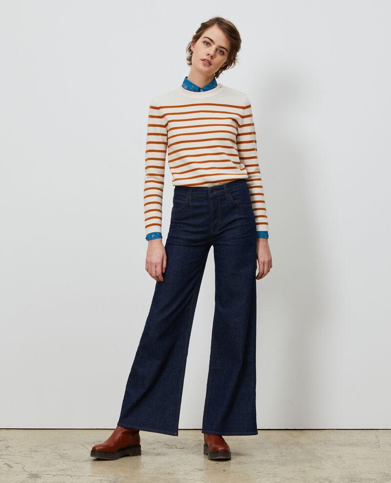 FLARE - Jeans de campana y talle alto Denim rinse Neuflize