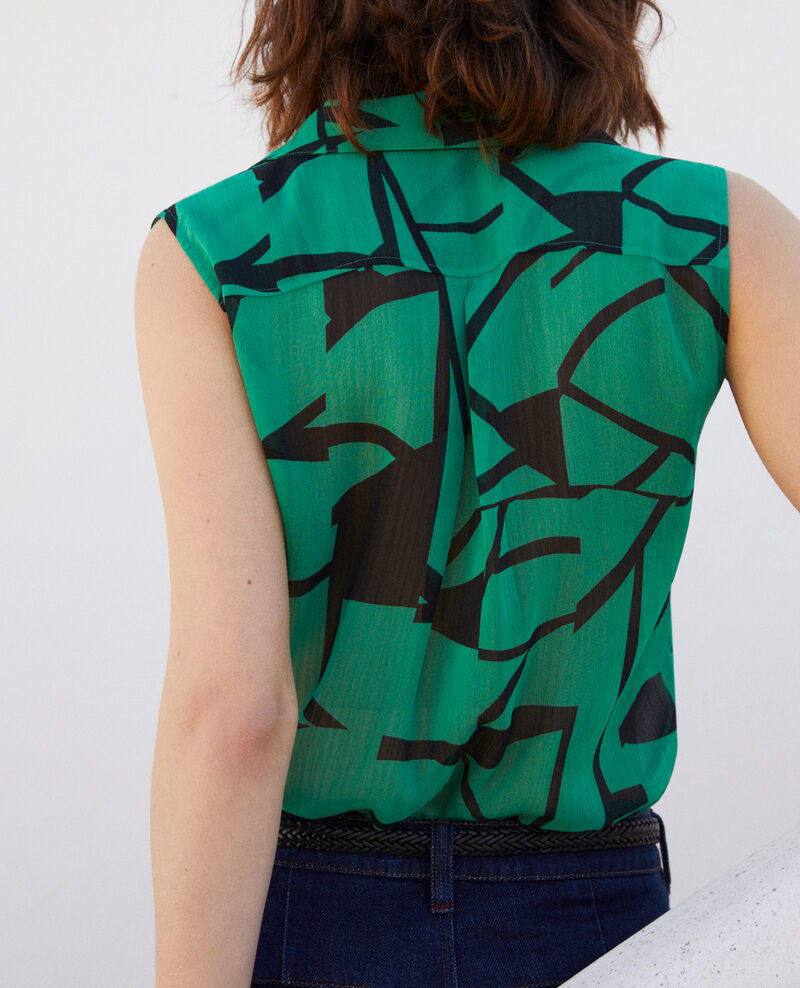 Blusa estampada Primitive lines green Imitive