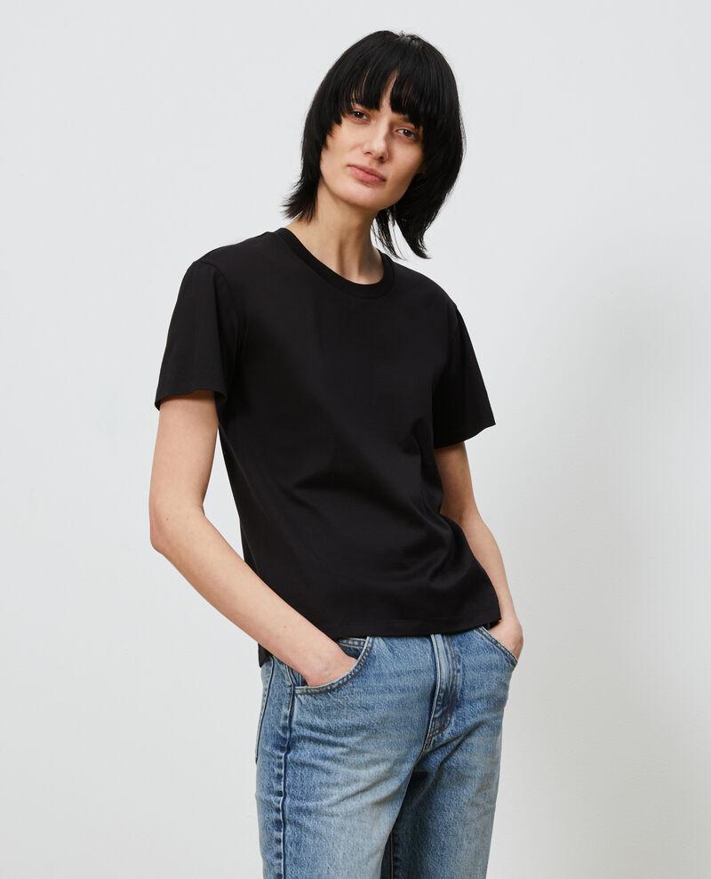 Camiseta de algodón con cuello redondo Black beauty Lirous