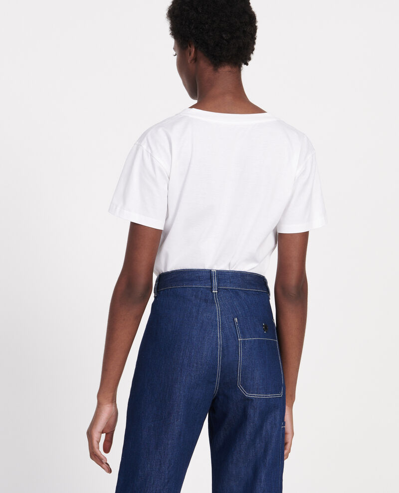 Camiseta de algodón egipcio Optical white Laberne