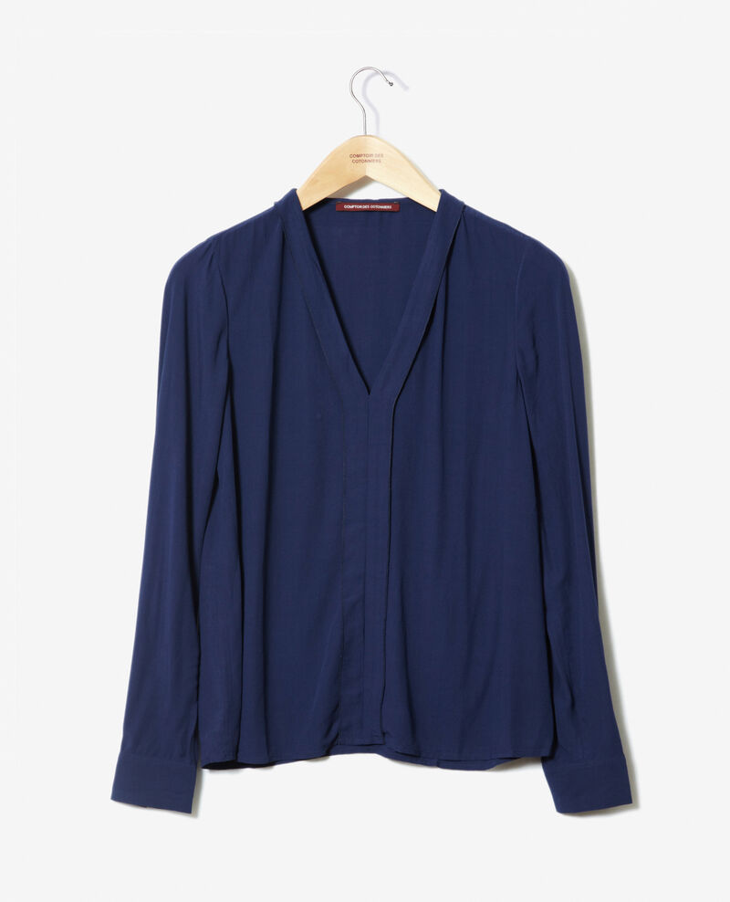 Blusa con escote de pico Medieval blue 9ganet