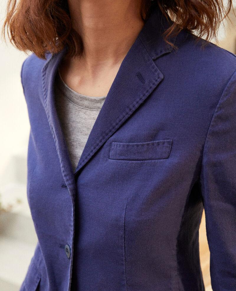 Chaqueta de traje con lino Sapphire navy Ibea