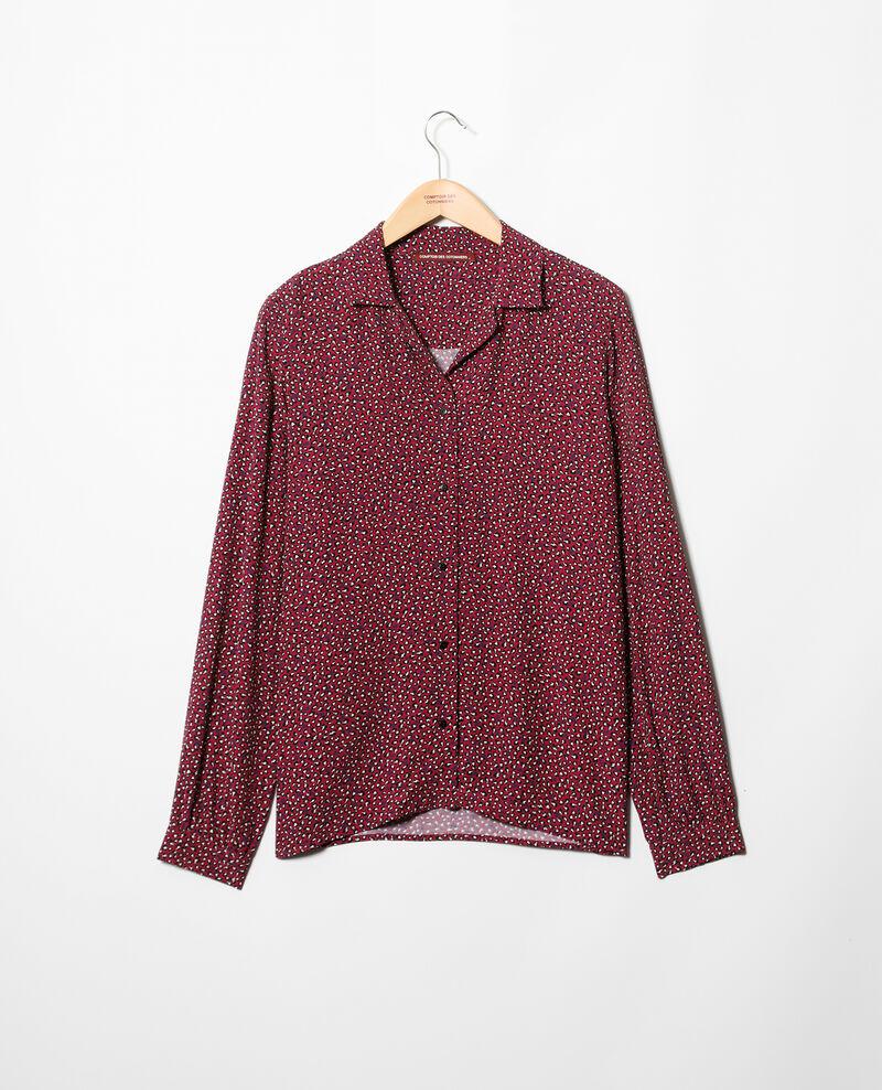 Camisa de cuello abierto  Rojo Gaby