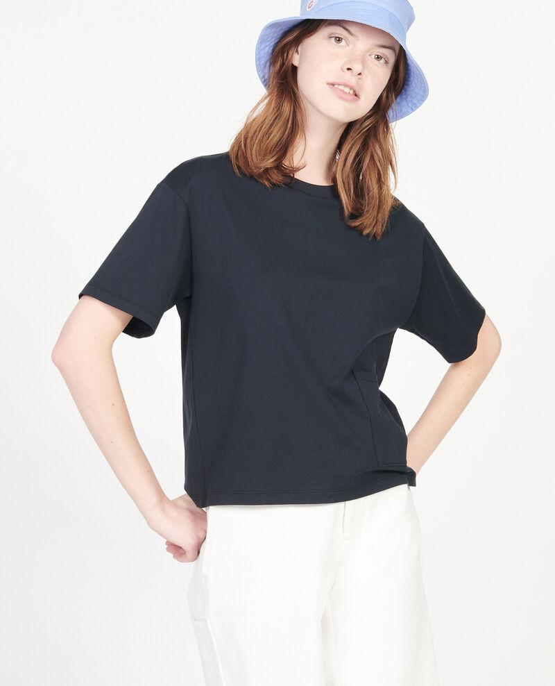 Camiseta oversize de algodón mercerizado Black beauty Lexana