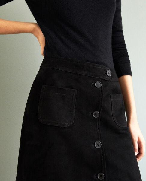 Comptoir des Cotonniers - Falda corta de ante Noir - 4