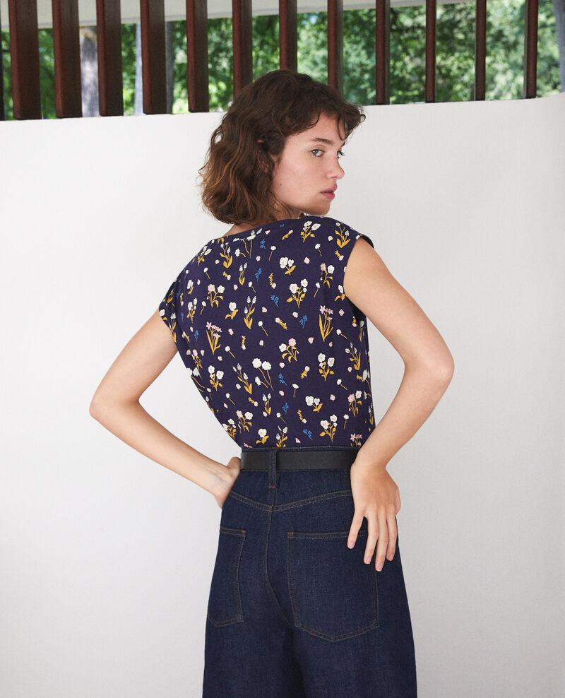 Camiseta de algodón  Azul Ginolita