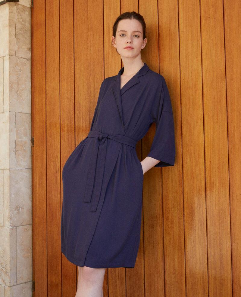 Vestido cruzado Azul Guichard