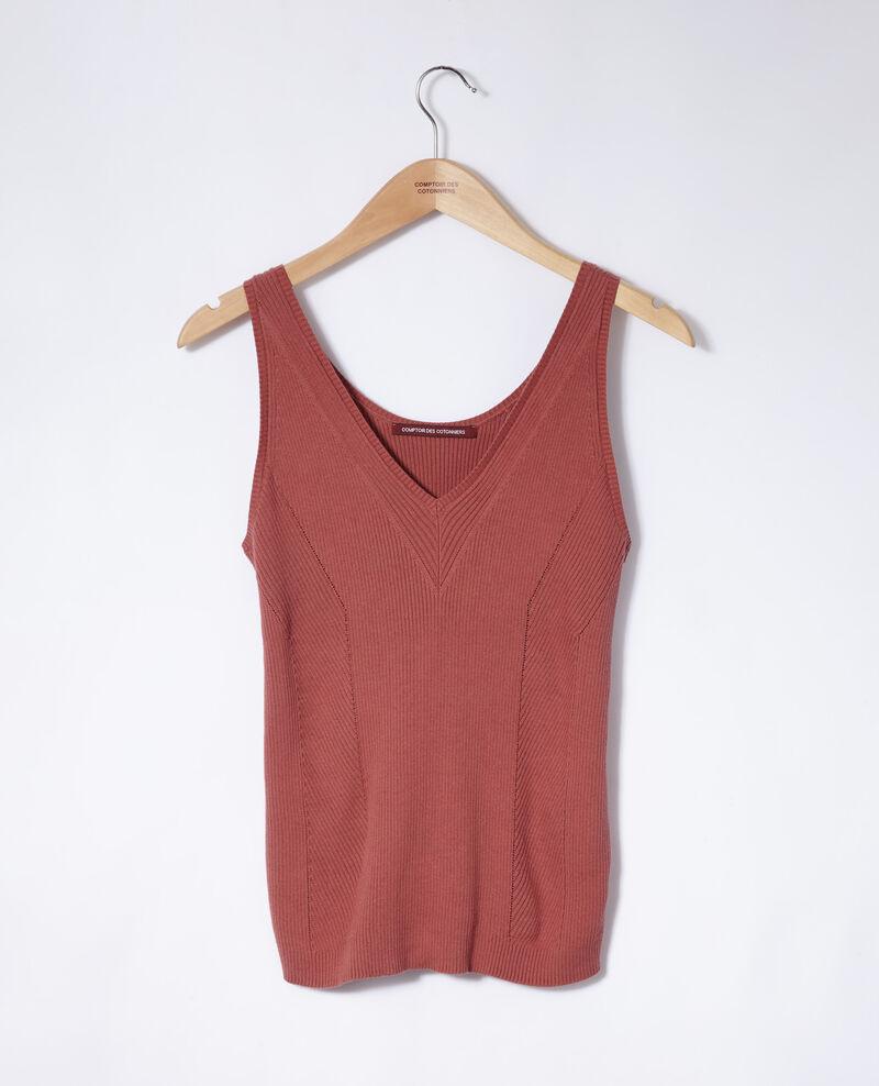 Camiseta de tirantes de algodón Rojo Givre