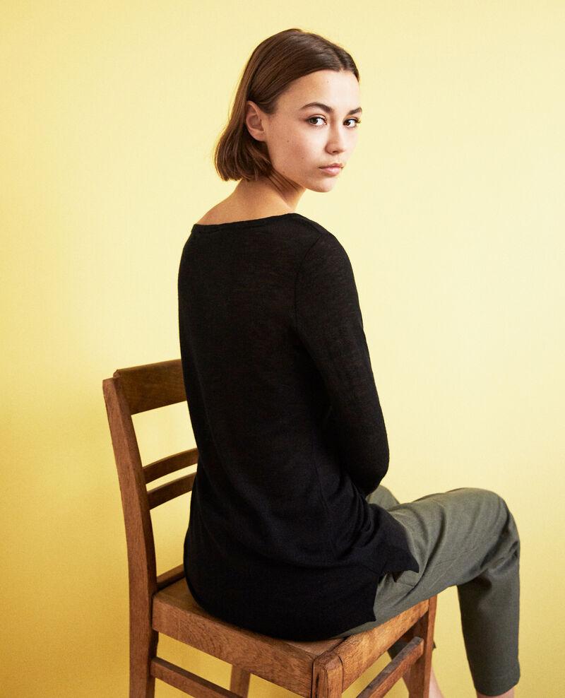 Jersey de lana con cuello redondo Noir Idouard