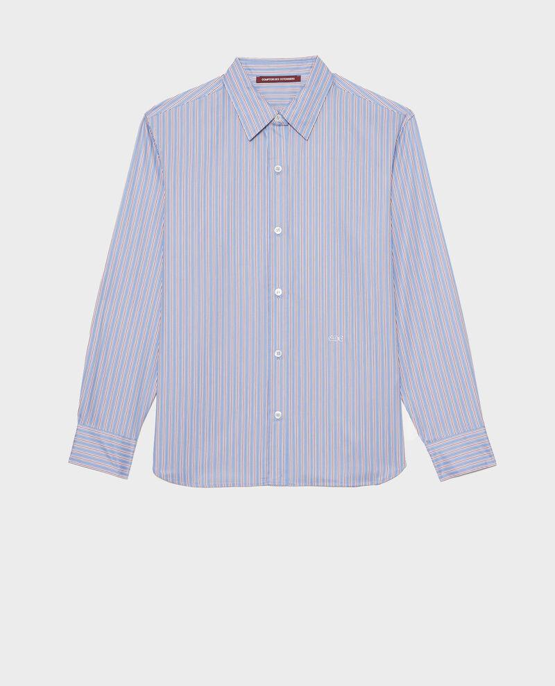 Camisa de hombre de algodón Supima Stripe2 blue Myndo