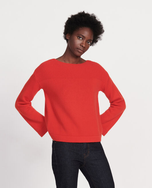 Jersey de lana y cachemir FIERY RED