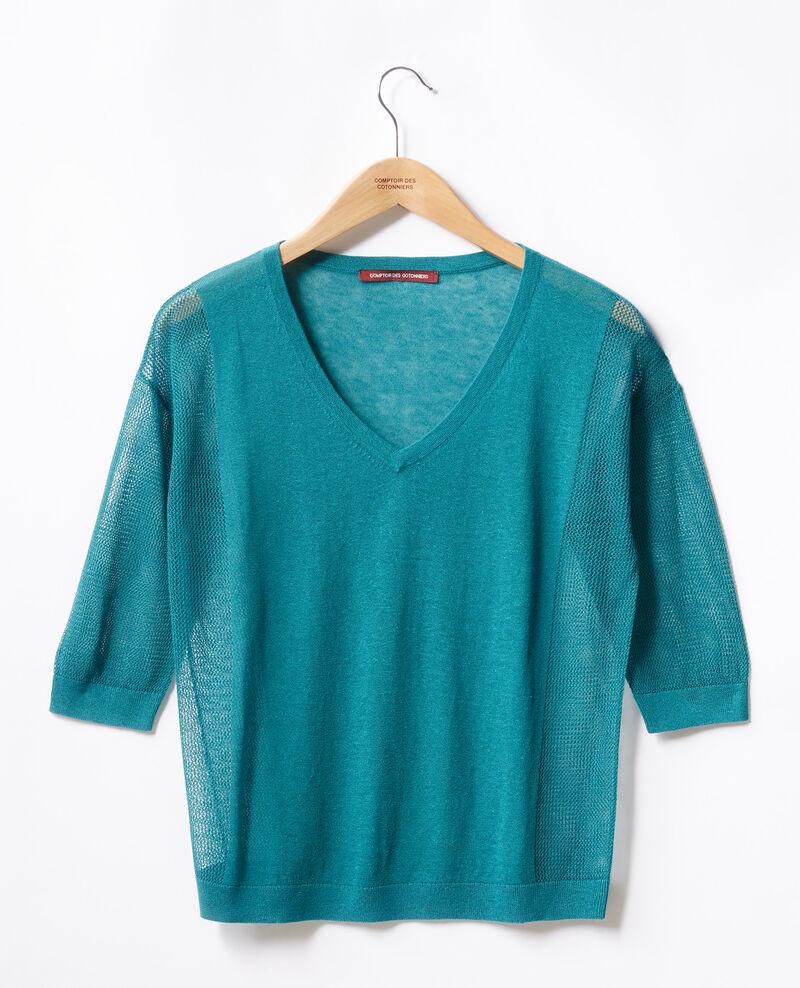 Jersey con detalles calados Pacific green Fugees