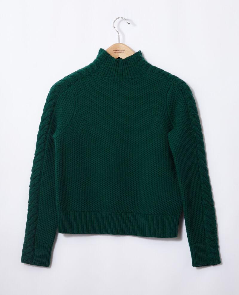 Jersey de lana con detalle de trenza Evergreen Garouk