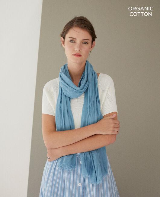 Fular de algodón orgánico Azul
