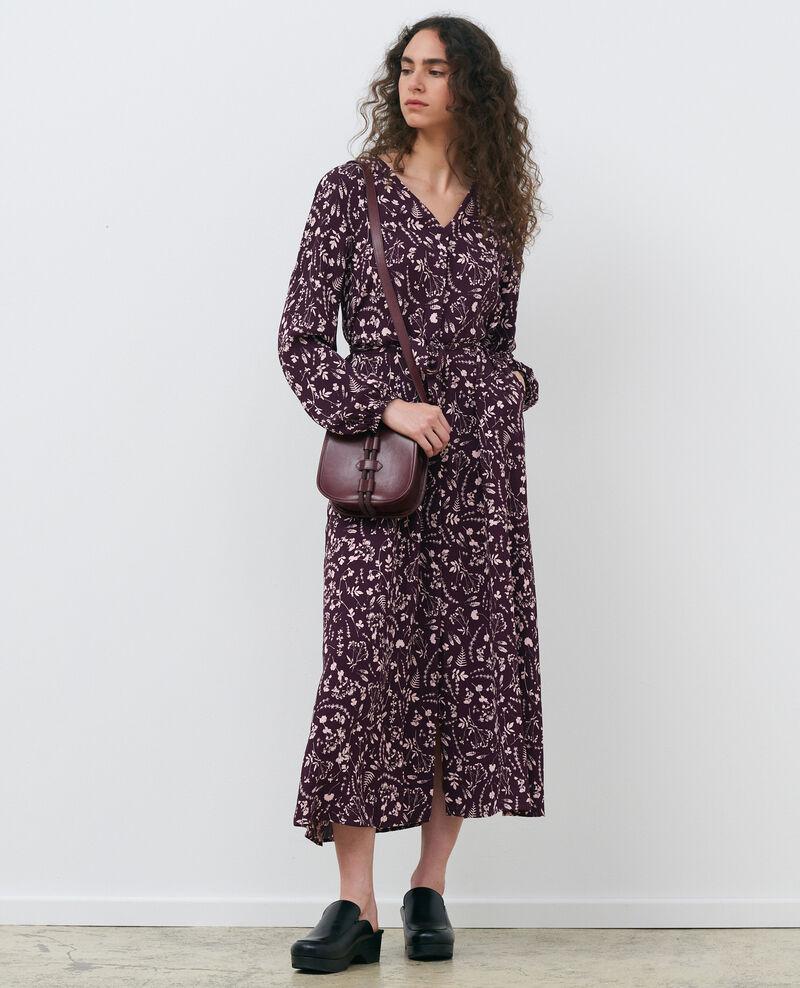 Vestido largo estampado Cyanotype purple Pavish