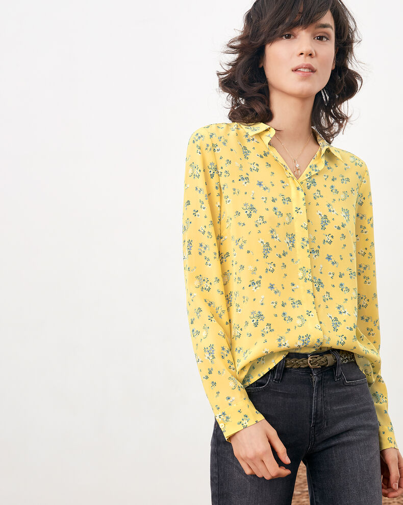 Camisa de seda estampada Lillybell lemon Follower