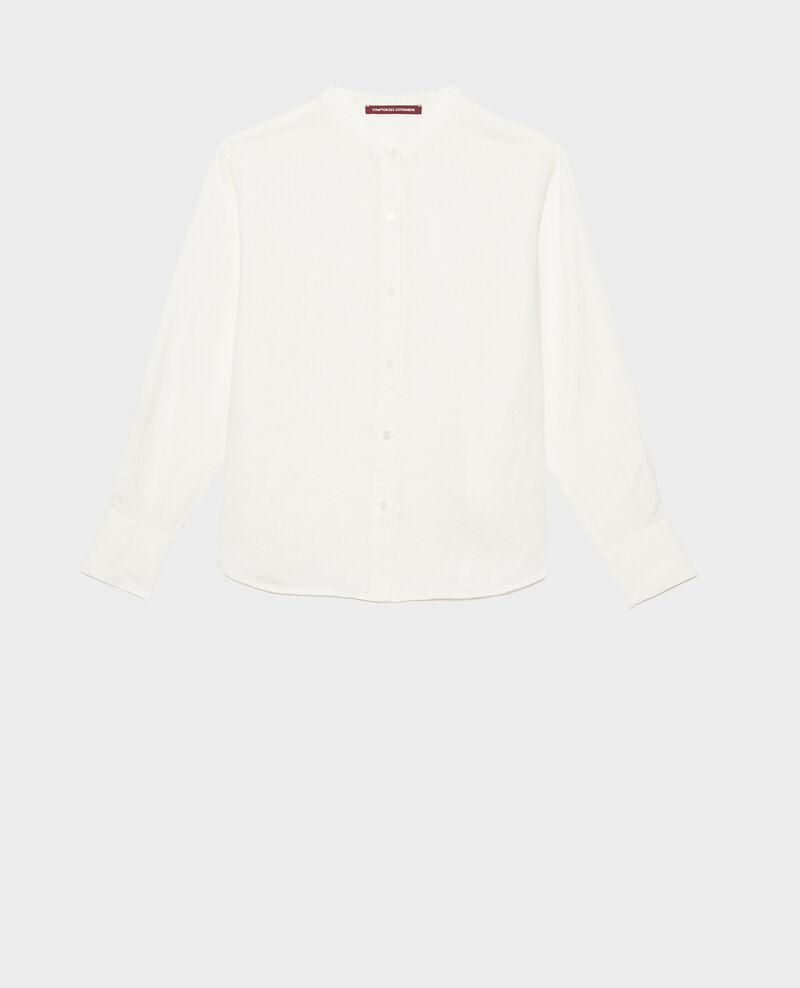 Camisa de lino sin cuello Gardenia Nawak