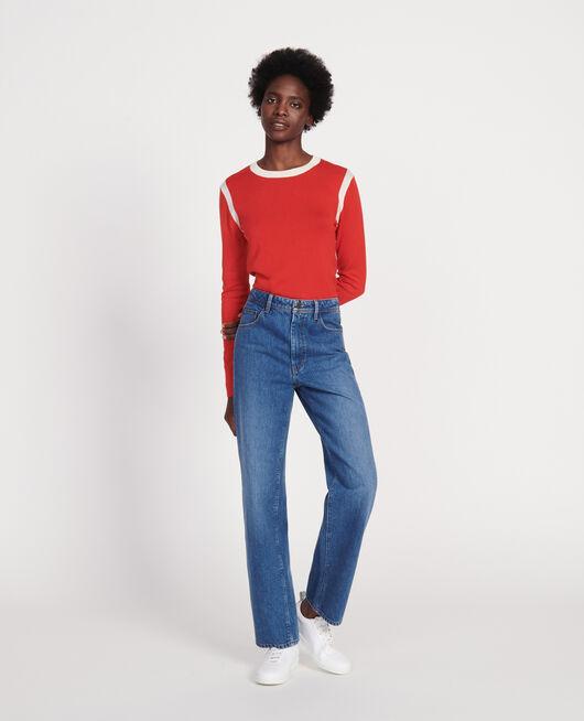 Jersey con seda  y cachemir FIERY RED BUTTERCREAM