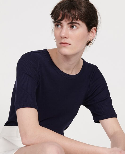 Camiseta de algodón MARITIME BLUE