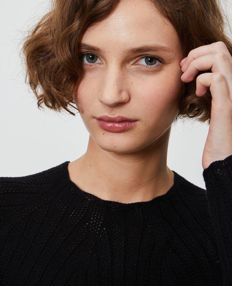 Jersey encaje de punto 3D Black beauty Nosard