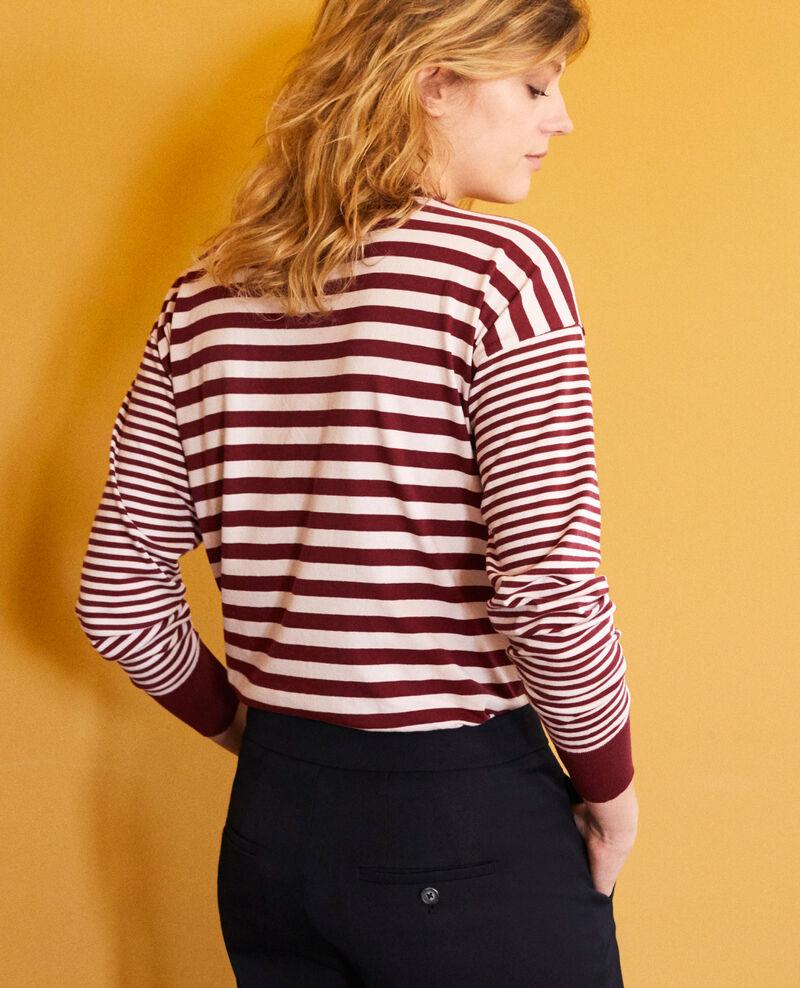 Camiseta rayas de algodón Cabernet/hush Jeidala