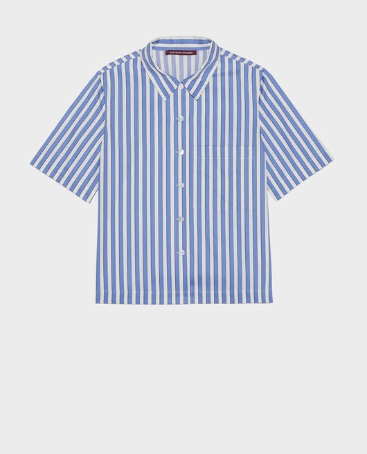 Camisa de algodón STRIPES LIGHT GREY PERSIAN JEWEL
