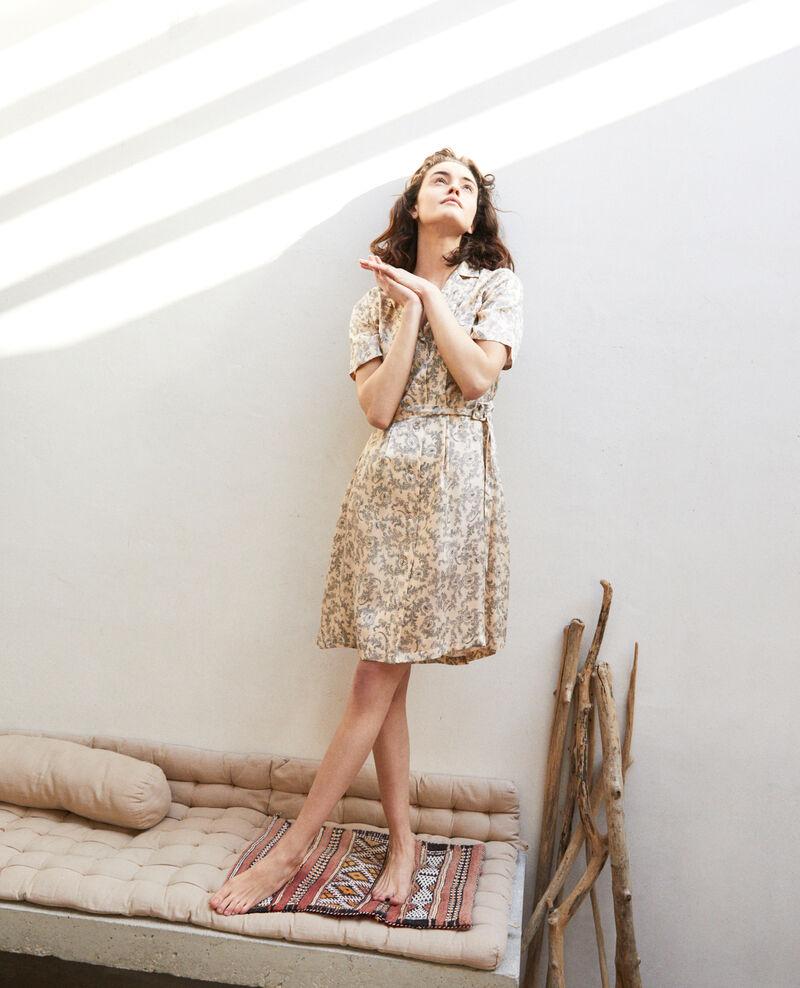 Vestido de cuello abierto  Bandana light beige Illara