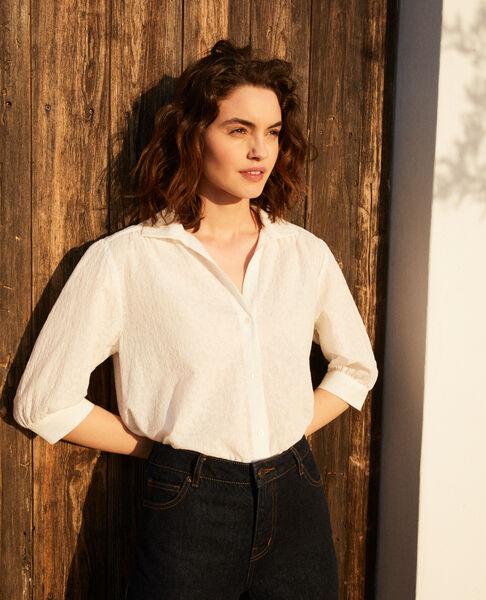 Comptoir des Cotonniers - Camisa de algodón bordado Off white - 5