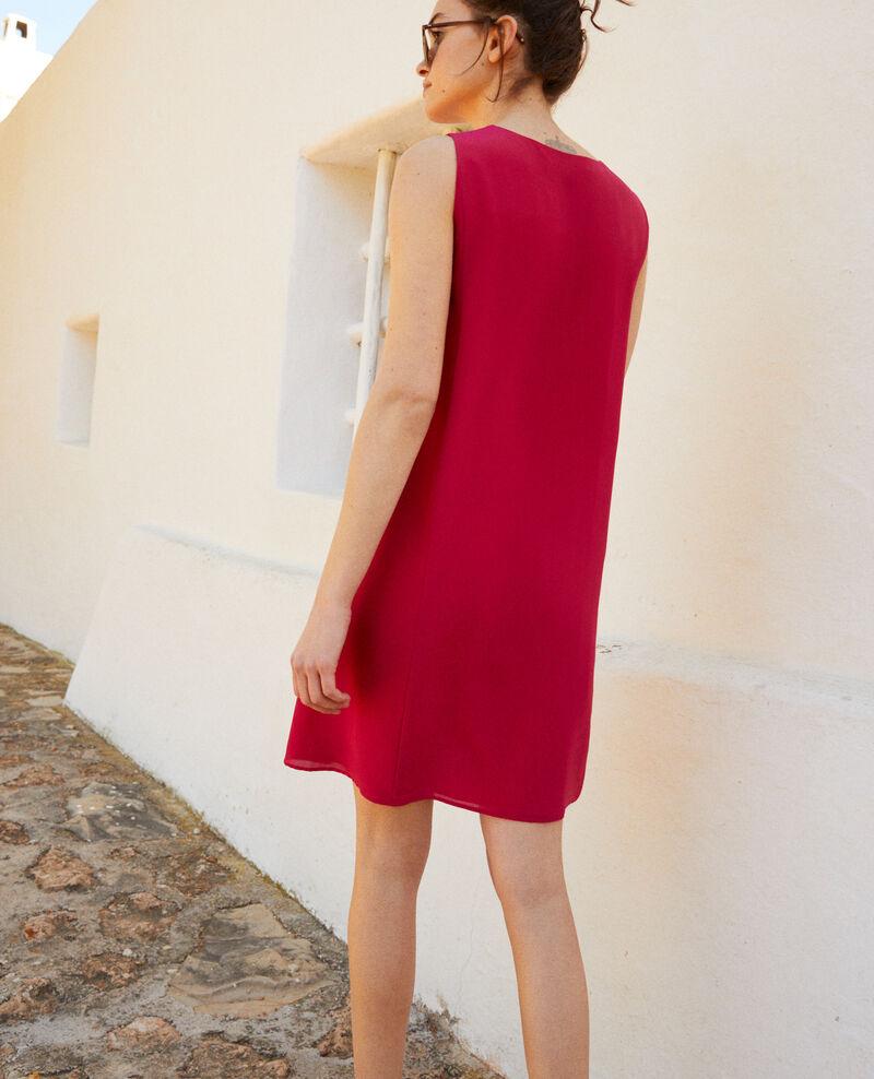 Vestido de cuello redondo Fushia Idark
