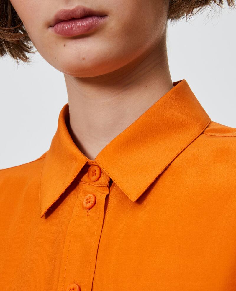 SIBYLLE - Camisa masculina de seda Harvest pumpkin Noriges