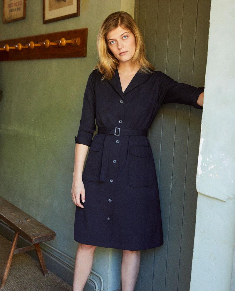 Vestido de cuello abierto  Dark navy Jimauve