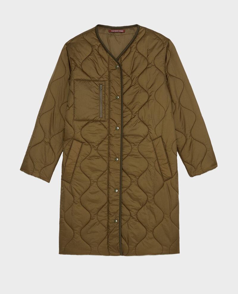 Abrigo plumas con cuello de pico  Military green Matoury