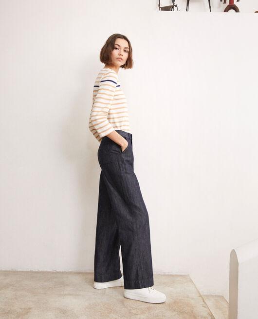 Pantalón con lino INDIGO