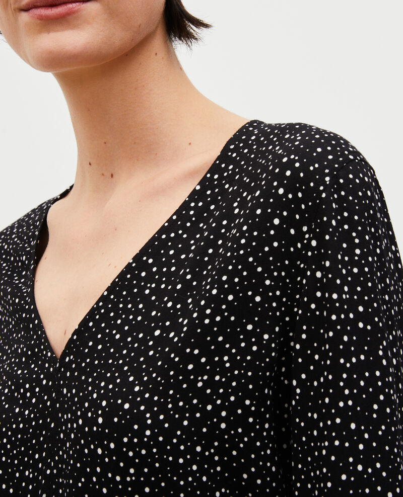 Top estampado de manga larga Print constellation black Mignon
