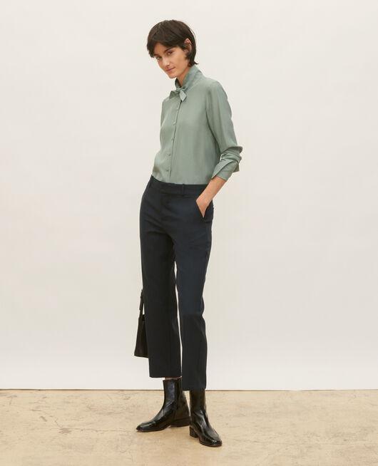 Pantalón masculino de lana lisa DARK NAVY