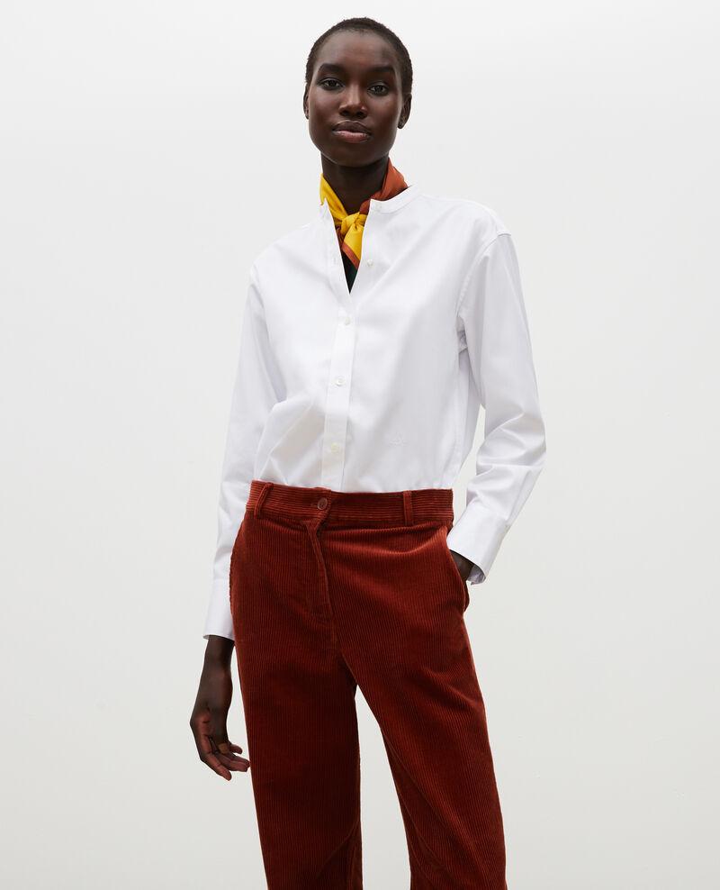 Camisa de algondón con cuello rendondo Brilliant white Mannion