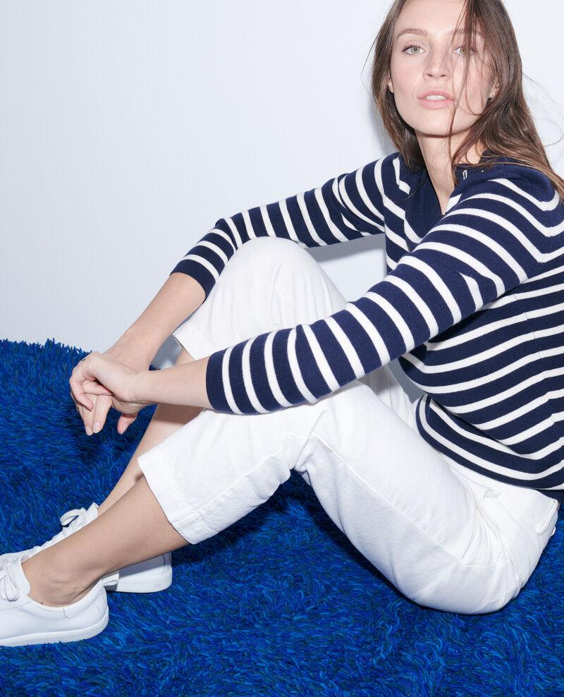 Pantalón de lino y algodón con longitud 7/8 Gardenia Laiguillon