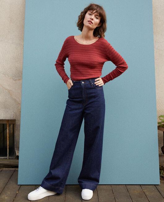 Jeans Wide full length Azul