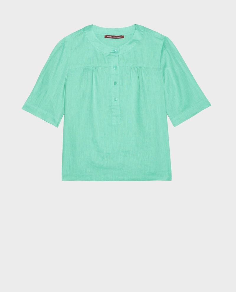 Blusa de lino Jade cream Lantoine